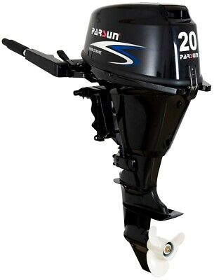 AU2895 • Buy 20HP PARSUN OUTBOARD MOTOR Short Shaft 4-Stroke Manual Start 2YR WARRANTY F20BMS