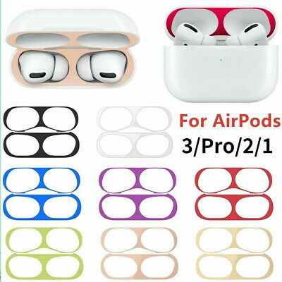 $ CDN3.88 • Buy Fr Apple AirPods Pro Case 0.04mm Dust Guard Metal Protective Sticker Airpods 1 2