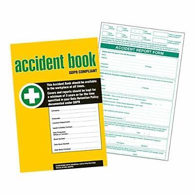 Accident Report Book A4 GDPR Compliant New GDPR, RIDDOR And HSE Compliant • 8.99£