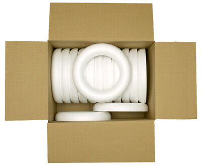 Christmas Sweet Wreath Polystyrene Ring 120mm Box Of 16 Craft Decorations  • 12.99£