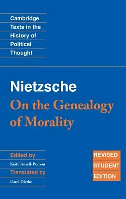 £7.49 • Buy Nietzsche: 'On The Genealogy Of Morality' (Cambridge Texts In The H... Paperback