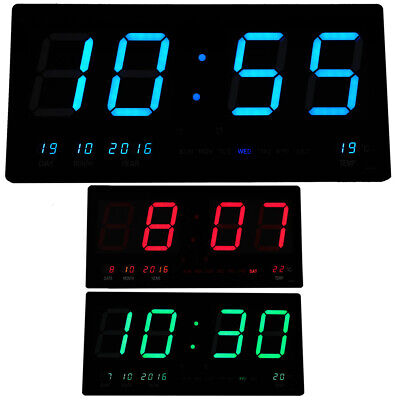 AU59.80 • Buy Jumbo Digital Wall Clock Large LED Commercial Office Home Display Blue Green Red