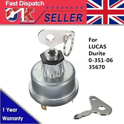 Diesel Digger Plant Tractor Ignition Switch & Key For Massey FERGUSON 35670 UK • 8.54£