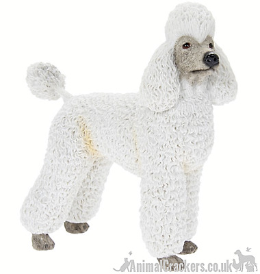 £11.85 • Buy White Standing Poodle Ornament Figurine Sculpture Quality Leonardo, Gift Boxed