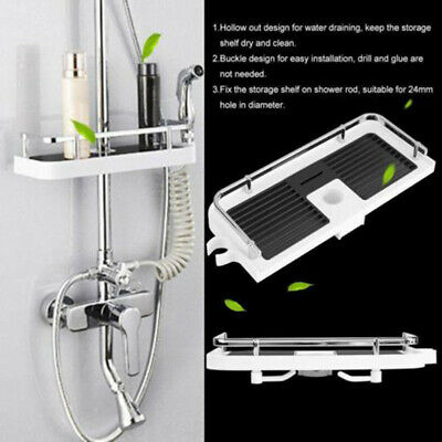 AU26.44 • Buy Largre Bathroom Pole Shelf Shower Storage Caddy Rack Organiser Tray Holder