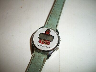 $ CDN10.03 • Buy Vintage 1980s Michael Jackson LCD Watch For Parts Retro Graphics