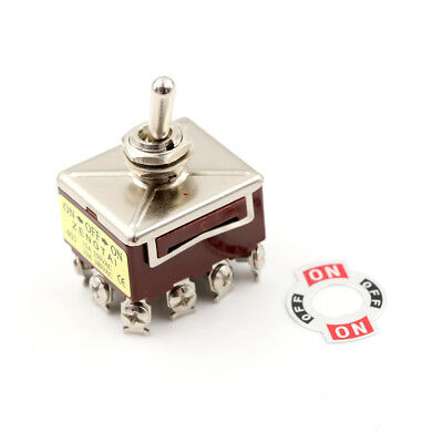 Toggle Switch 3 Position 12 Pin 4PDT ON-OFF-ON 10A/380VAC 15A/250VAC FL • 7.12$