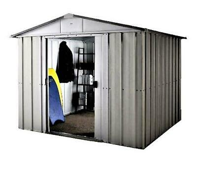 754 Yardmaster Silver Apex Metal Garden Shed - Maximum External Size 9'11 X 7'9  • 265.99£