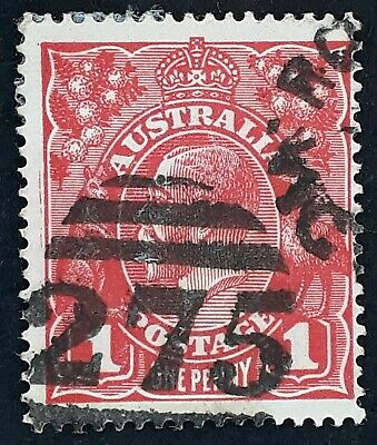 AU20 • Buy Undated Australia 1d Red KGV Stamp Numeral CDS 275 Romsey Victoria Postmark