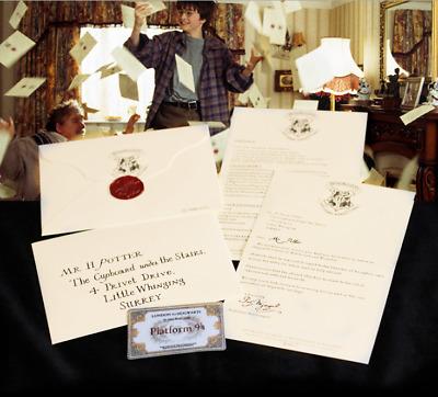 AU13.87 • Buy Harry Potter School Acceptance Letter Cosplay Hogwarts Platform Ticket Envelope