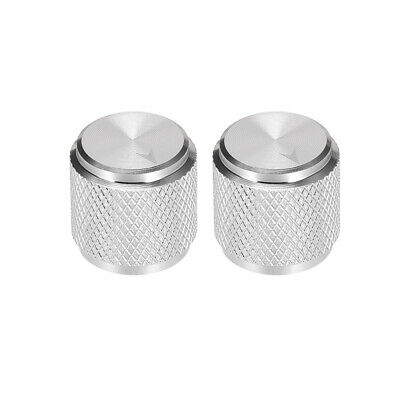 $ CDN12.56 • Buy 2pcs Potentiometer Knob SilverTone Aluminum Volume Control Knob Amplifier Guitar