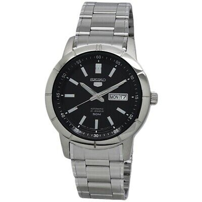 $ CDN190.99 • Buy Seiko Seiko 5 Automatic Black Dial Stainless Steel Men's Watch SNKN55J1