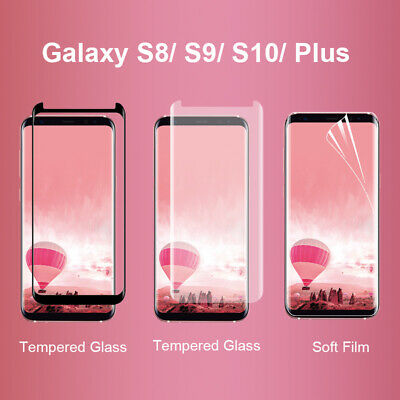 AU7.99 • Buy Samsung Galaxy S8 S9 S10 Plus Tempered Glass Screen Protector  3D Curved