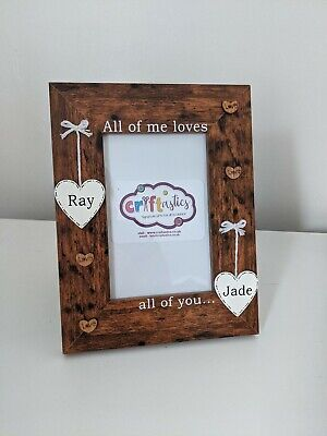 Personalised 4x6 Picture Photo Frame Valentine Birthday Christmas Boyfriend Gift • 15.99£