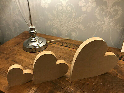Free Standing 18mm Thick  Large MDF Wooden Heart Christmas Shape, Crafts • 1.99£