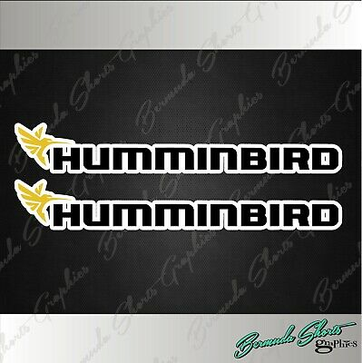 $4.97 • Buy Hummingbird Fishing Decals / 6  PAIR High Quality Stickers / Boat Graphics