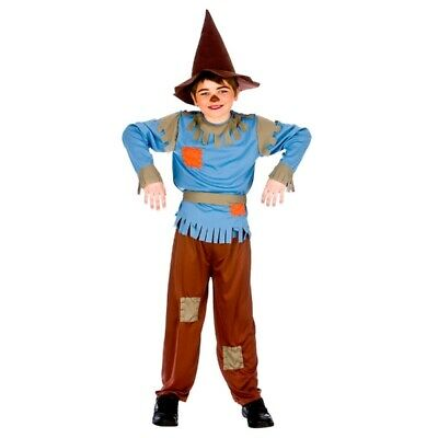 Scarecrow Costume Wizard Of Oz Kids Party Dress World Book Day • 12.99£