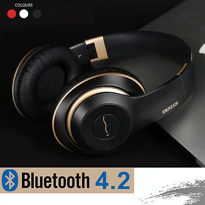 AU25.95 • Buy Bluetooth Wireless Headphones Earphones Headset Stereo Noise Cancelling With Mic