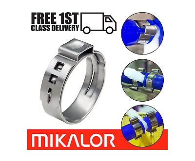 £3.80 • Buy Mikalor Single Ear Plus O Clips 304 Stainless Steel Air Water Pipe Hose Clamps