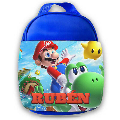 Personalised Kids Lunch Bag Any Name Mario Childrens Boys School Snack Box  • 14.99£