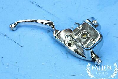 #2828 - 02 Harley Softail FXST Front Brake Master Cylinder & Handle Lever CHROME • 59.95$