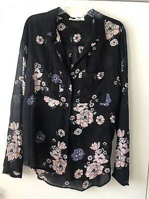 $ CDN32.85 • Buy Anthropologie Cloth & Stone  Floral Printed Button Blouse Top XL