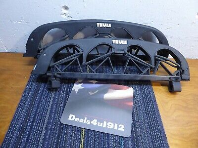 $47.99 • Buy Thule 4 Angled Ski Carrier #586 And Roof Rack Mounts, Excellent Pre Owned Cond!