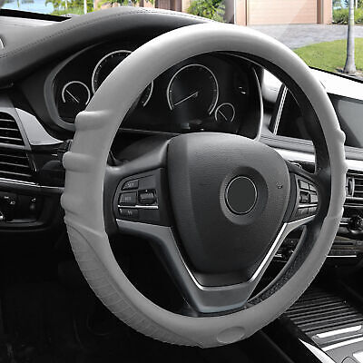 $16.99 • Buy Gray Silicone Steering Wheel Cover For Auto Car SUV Universal Fitment