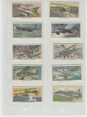 Kellogg 1963 A History Of British Military Aircraft , 10 Cards In Plastic Sleeve • 3.99£