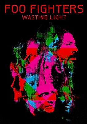 Reproduction  Foo Fighters - Wasting Light ,  Poster, Grunge, Home Wall Art • 13.50£