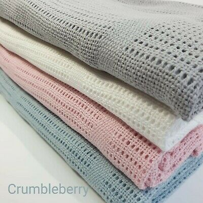 £7.25 • Buy New Cellular Baby Blanket,100% Cotton,for Prams,Travel Cots,Swaddling,Breathable