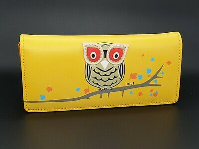 Cute Yellow Owl Purse Long Wallet Large Ladies Faux Leather Purse Gift  • 14£