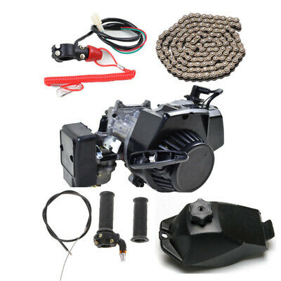 AU129.99 • Buy 49cc 2 Stroke Pull Start Engine Motor Kit Mini Pocket Rocket Quad Dirt Bike ATV