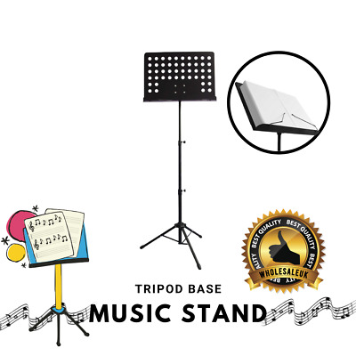 Orchestral Sheet Music Stand Heavy Duty Conductor Foldable Adjustable Tripod  • 11.99£