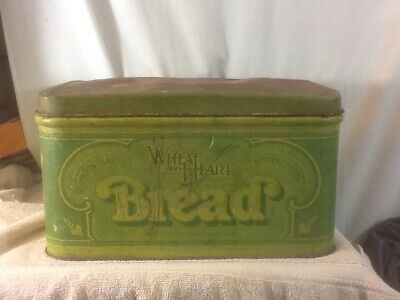 $22.99 • Buy Vtg 1970's WHEAT HEART BREAD Country Style Tin Box With Hinged Lid Pre-owned