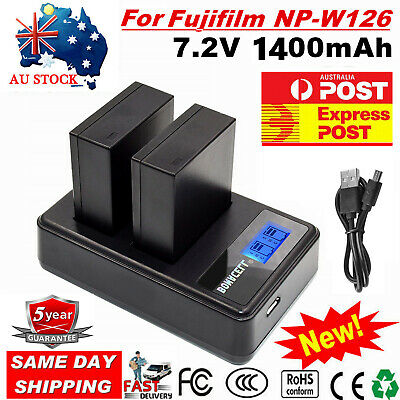 AU23.99 • Buy AU 2X NP-W126s Battery /LCD Charger For Fujifilm NP-W126 X-M1 X-A1 X-T1 HS33EXR
