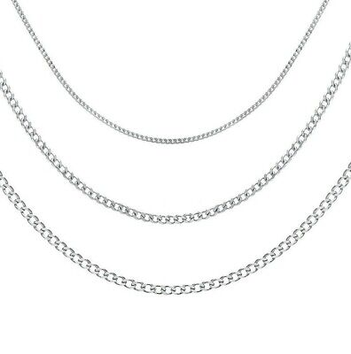 £7.99 • Buy 925 Sterling Silver Curb Necklace Chain In Various Lengths With A Gift Bag