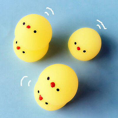 AU8.30 • Buy 3Pcs Squishies Yellow Chicken Squeeze Stretchy Decompress Phone Kid Toy LG