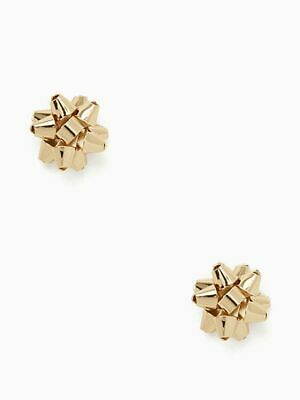 $ CDN50.94 • Buy KATE SPADE New York BOURGEOIS BOW STUD Earrings GOLD TONE Holiday