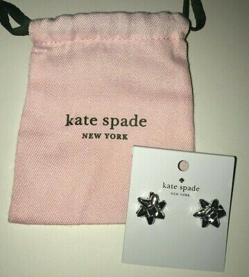 $ CDN50.94 • Buy KATE SPADE New York BOURGEOIS BOW STUD Earrings SILVER TONE Holiday