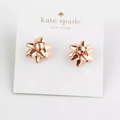 $ CDN50.94 • Buy KATE SPADE New York BOURGEOIS BOW STUD Earrings ROSE GOLD TONE Holiday