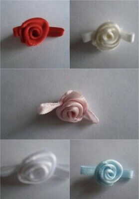 Small Satin Rose Buds - Various Colours, Pack Sizes *NEW COLOURS* • 1.99£