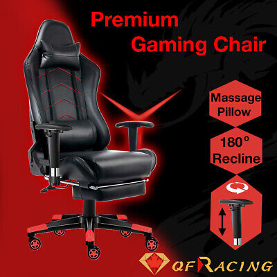 AU239.95 • Buy Gaming Chair Office Seating Racing Computer PU Leather Executive Racer Footrest
