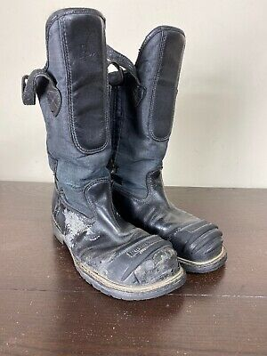 $55 • Buy Pro Warrington 5006SG Firefighter Leather Bunker Turnout Boots Black 10.5 EEE