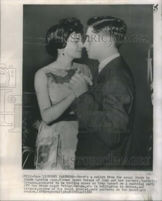 $ CDN28.23 • Buy 1960 Press Photo Former Queen Soraya Dimitrios Livanos Yachting Party