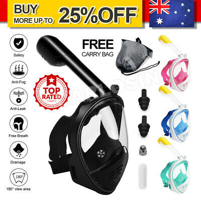 AU26.90 • Buy Full Face Diving Seaview Snorkel Snorkeling Mask Swimming Goggles For GoPro AU