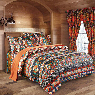 AU38.26 • Buy Oriental Mandala Doona/Quilt/Duvet Cover Set Double/Queen/King Size Bedding Set