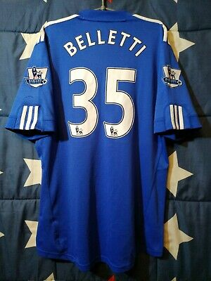 SIZE L Chelsea 2009-2010 Home Football Shirt Jersey Belletti #35 • 50£