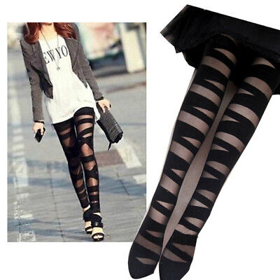 3 Pair Multipack Women's Ladies Gift Fashion Cut-out Bandage Black Tights Party • 15.99£