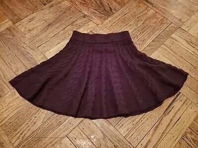 £21.24 • Buy ***kimchi Blue Brown Cable Knit Flare Skirt Size: Xs Nwts***
